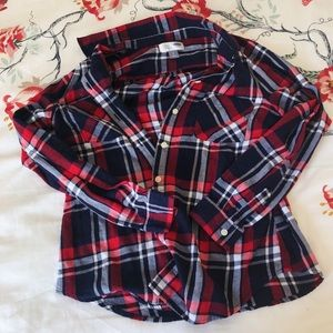 Old Navy Red Flannel Shirt